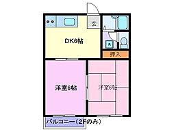 タウニィ125[2階]の間取り