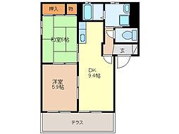 エスペランサA棟(ハイツ)[1階]の間取り