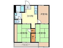 エコーハイツA・B[A102号室]の間取り
