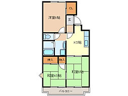 進峰マンションA棟[A206号室]の間取り