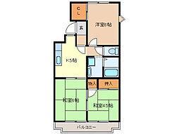 進峰マンションA棟[3階]の間取り