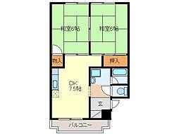 進峰マンションB棟[2階]の間取り