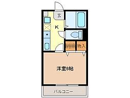 ヒルサイドコート[1階]の間取り