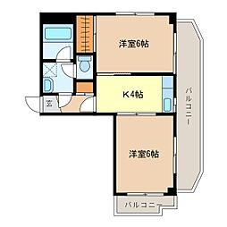 田中ハイツ[306号室]の間取り