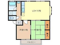 長島ハイツ [2-2号室]の間取り