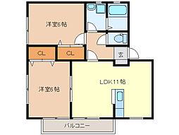 エルグランデ・KIII棟[2階]の間取り
