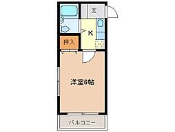 石川ハイツII[3階]の間取り