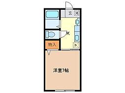堀込レジデンス[1階]の間取り