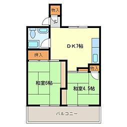第一浅間台ハウス[5B8号室]の間取り
