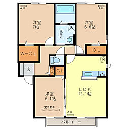 TT Residence[2階]の間取り