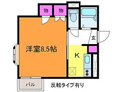 新潟県新潟市中央区紫竹山3丁目の賃貸アパートの間取り