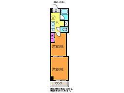 レジデンスカープ新潟[2階]の間取り