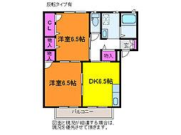 シャーメゾンランブル[2階]の間取り