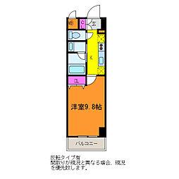 パークソレイユ新潟駅前[3階]の間取り