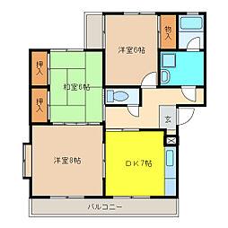 丸善ビル[4階]の間取り
