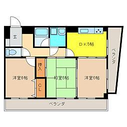 ラ・プルミエール[2階]の間取り