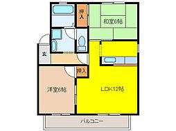 コーポトータス[2階]の間取り