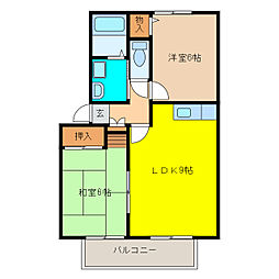 チェリープラザ[2階]の間取り