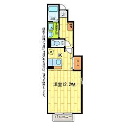 サンハウスIV[1階]の間取り