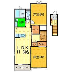アン・ドゥ・トロワIIIe[2階]の間取り