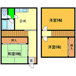 [一戸建] 徳島県美馬市脇町岩倉 の賃貸【/】の間取り
