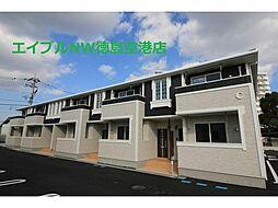 徳島県徳島市川内町金岡の賃貸アパートの外観