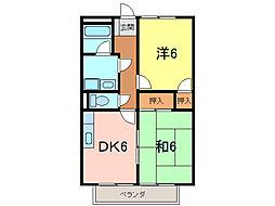 サープラスIIMIYABI[2階]の間取り