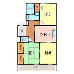 愛知県刈谷市一ツ木町2丁目の賃貸マンションの間取り