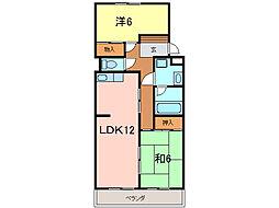 竹中マンション[3階]の間取り