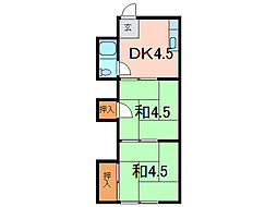 白樺荘[2階]の間取り
