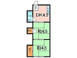 白樺荘[1階]の間取り