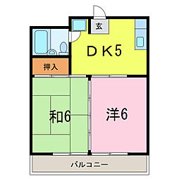 愛知県安城市百石町2丁目の賃貸マンションの間取り