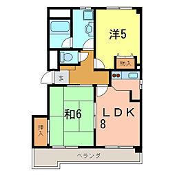 愛知県刈谷市新栄町3丁目の賃貸マンションの間取り
