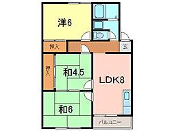 マンション三和ビル[1階]の間取り