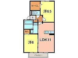 ファミリア富士塚[2階]の間取り