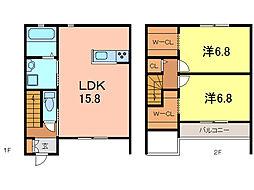 [テラスハウス] 愛知県知立市山町五八山 の賃貸【愛知県 / 知立市】の間取り