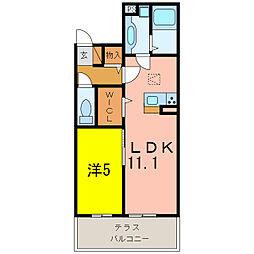 愛知県刈谷市東新町4丁目の賃貸アパートの間取り