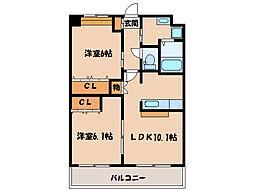 プレミエール A棟B棟[A103号室]の間取り