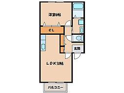 シャーメゾン札元A棟[202号室]の間取り