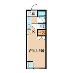 ハイグレードマンション[2階]の間取り