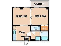 ライオネスマンション[108号室]の間取り