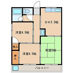 サンショウコーポ[1階]の間取り