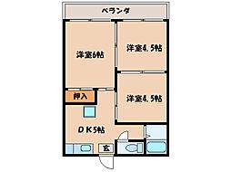 寿サンハイツ[2階]の間取り