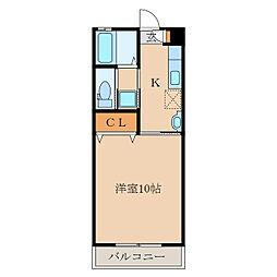 第二札元大丸マンション[303号室]の間取り