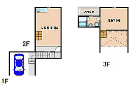 ラクパハウス A棟[3階]の間取り
