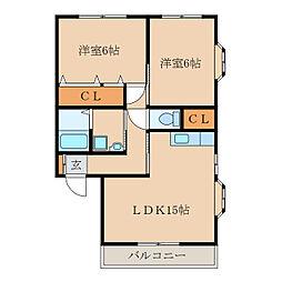 末吉大丸マンション[3階]の間取り