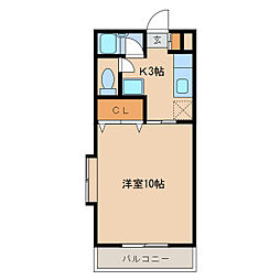 ル・ネクセス札元[306号室]の間取り