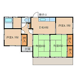 [一戸建] 鹿児島県鹿屋市寿8丁目 の賃貸【/】の間取り