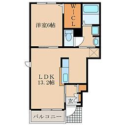 エンブレイスII[1階]の間取り