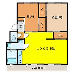 静岡県浜松市東区有玉西町の賃貸マンションの間取り